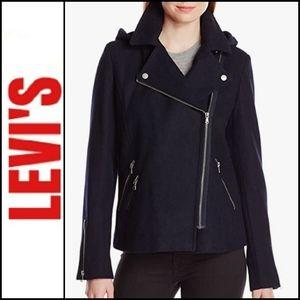 🆕️ LEVI'S Asymetrical Wool Blend Moto Jacket!